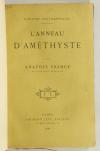 Anatole FRANCE - L anneau d améthyste - 1899 - EO - Maroquin - Photo 1, livre rare du XIXe siècle