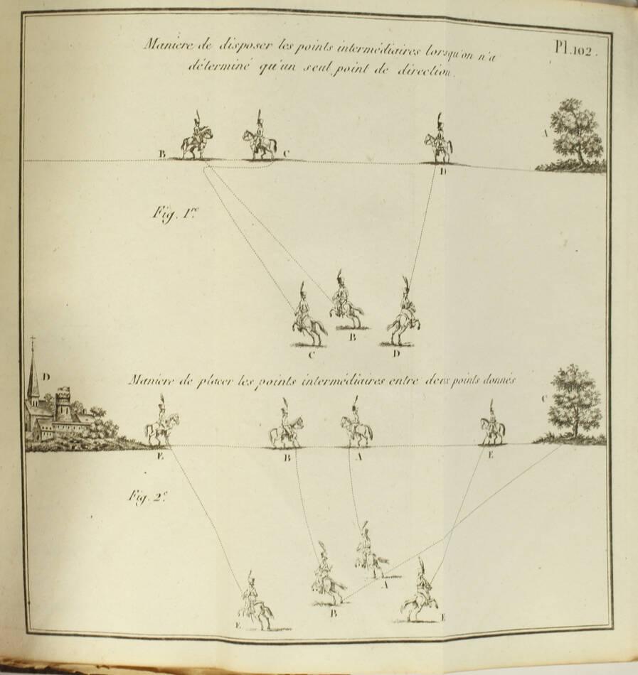 Exercice et manoeuvre de la cavalerie - 128 planches - Magimel, 1813 - Photo 3, livre ancien du XIXe siècle