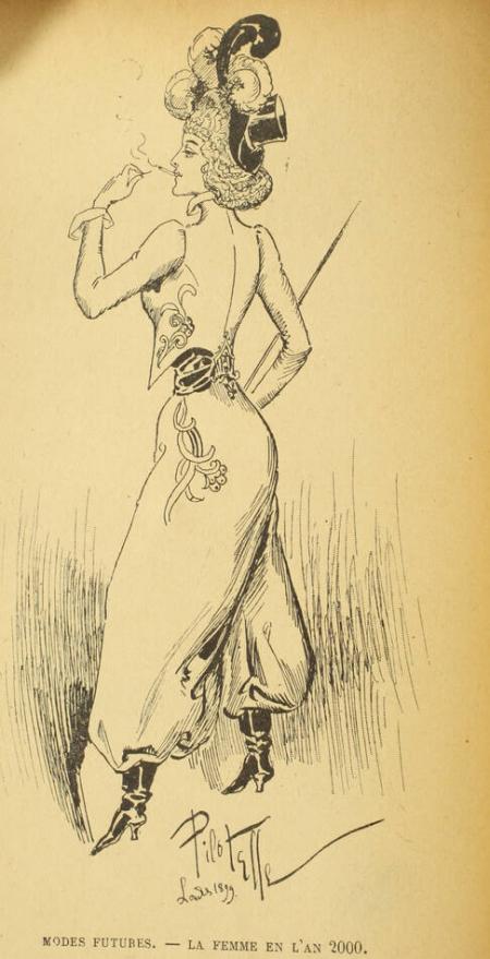 GRAND-CARTERET (John). La femme en culotte, livre rare du XIXe siècle