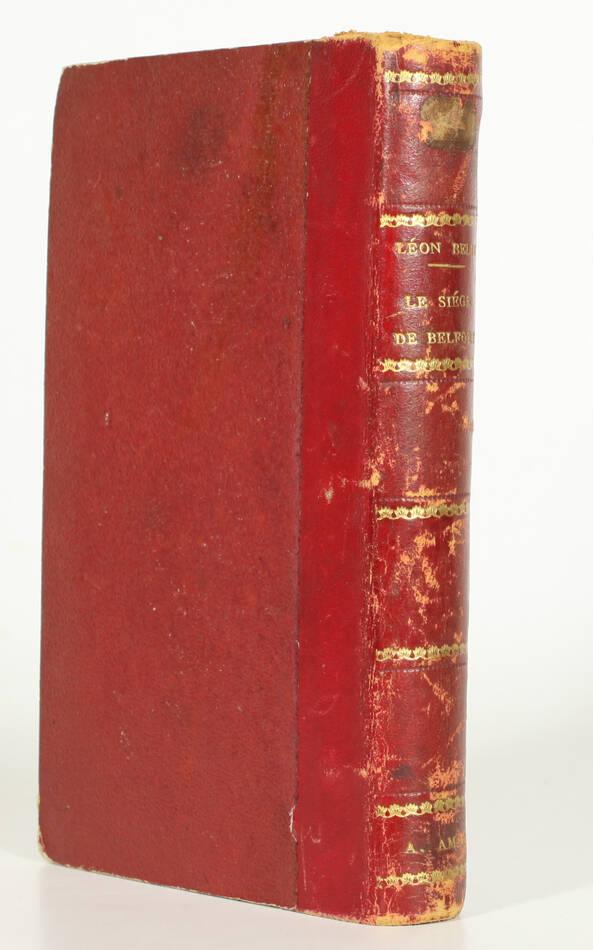 Le siège de Belfort - Guerre de 1870-1871 + Aventures de Cagliostro - 1855 - Photo 0, livre rare du XIXe siècle