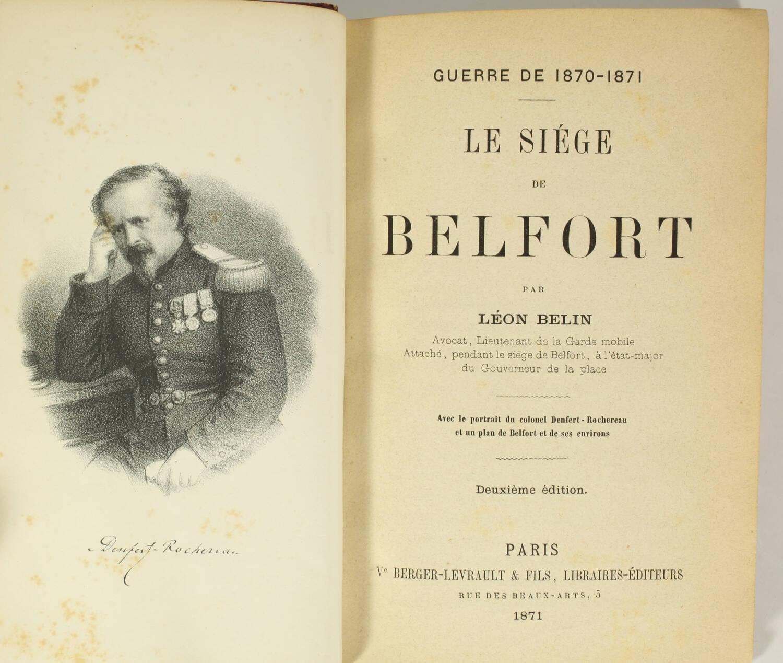 Le siège de Belfort - Guerre de 1870-1871 + Aventures de Cagliostro - 1855 - Photo 2, livre rare du XIXe siècle