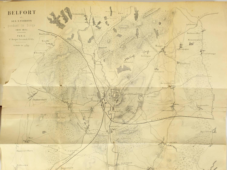 Le siège de Belfort - Guerre de 1870-1871 + Aventures de Cagliostro - 1855 - Photo 3, livre rare du XIXe siècle