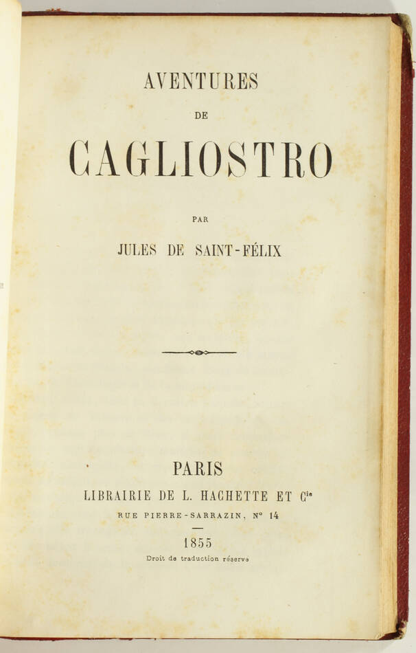 Le siège de Belfort - Guerre de 1870-1871 + Aventures de Cagliostro - 1855 - Photo 4, livre rare du XIXe siècle
