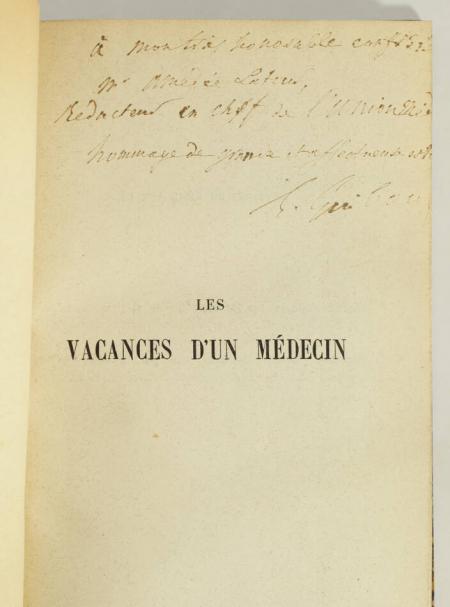 GUIBOUT (Dr. E.). Les vacances d'un médecin, livre rare du XIXe siècle