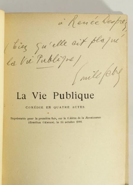 FABRE (Emile). La vie publique. Comédie en quatre actes, livre rare du XXe siècle