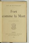 Guy de MAUPASSANT - Fort comme la mort - 1889 - Relié - Photo 1, livre rare du XIXe siècle