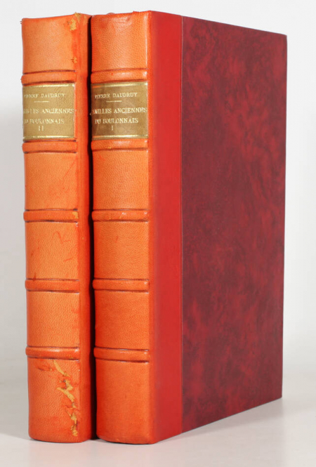 DAUDRUY (Pierre). Familles anciennes du Boulonnais, livre rare du XXe siècle
