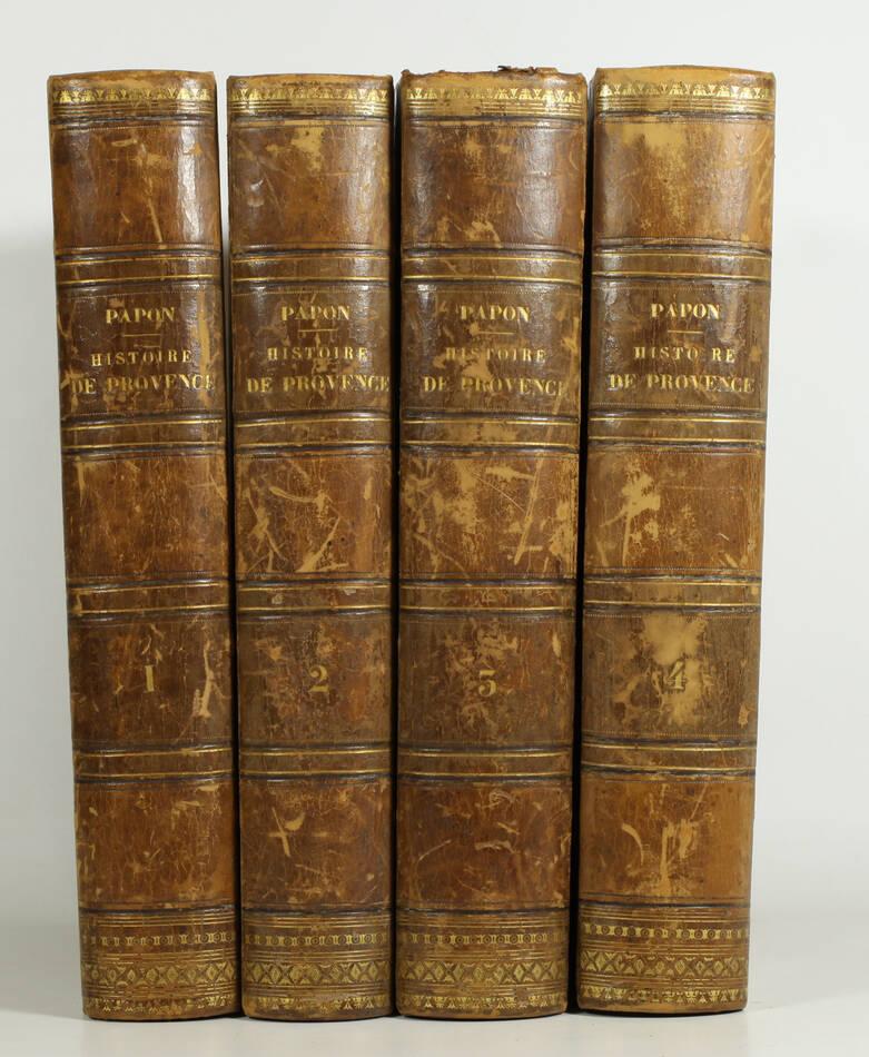 PAPON - Histoire de la Provence - 4 volumes in-quarto - 1777 - Cartes - monnaies - Photo 0, livre ancien du XVIIIe siècle