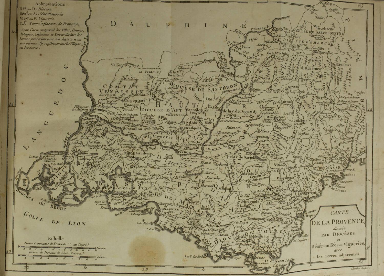 PAPON - Histoire de la Provence - 4 volumes in-quarto - 1777 - Cartes - monnaies - Photo 7, livre ancien du XVIIIe siècle