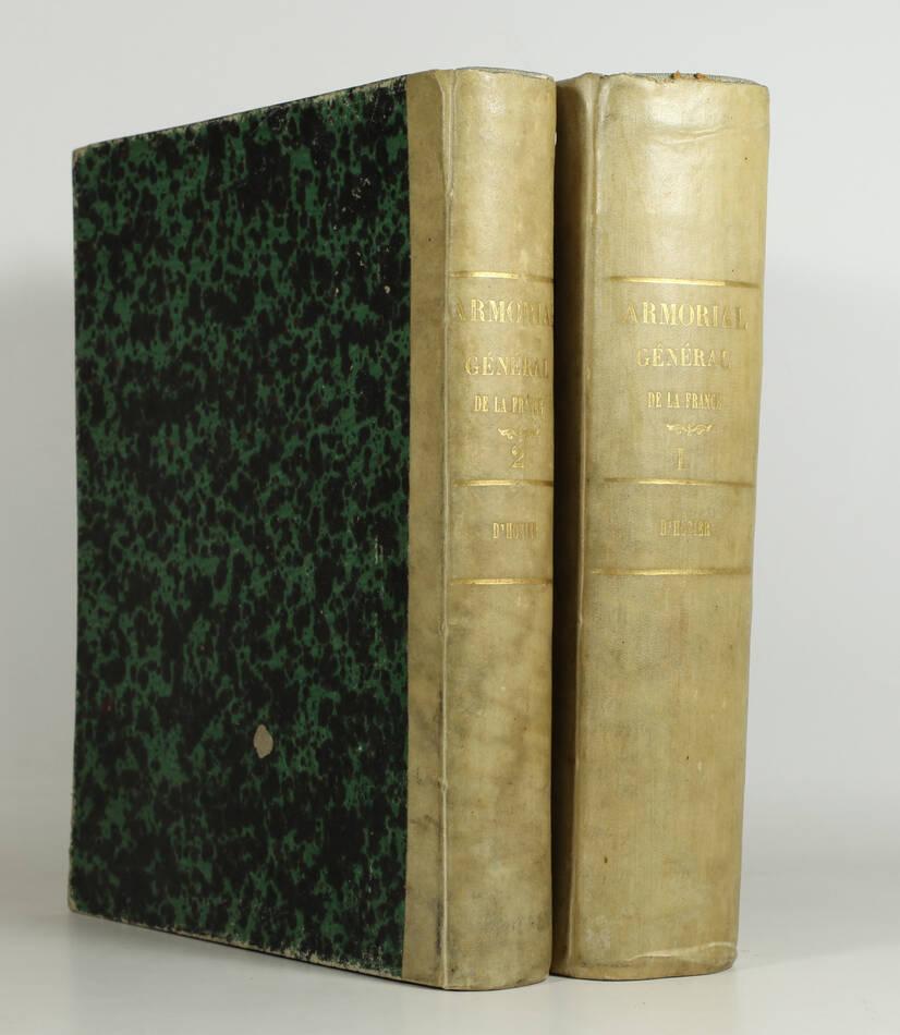 HOZIER - Armorial général de la France - 1821-1823 - 2 volumes, portrait - Rare - Photo 0, livre rare du XIXe siècle