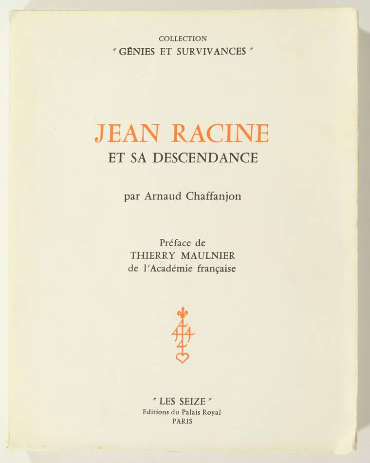 [Généalogie] CHAFFANJON - Jean Racine et sa descendance - 1964 - Photo 0, livre rare du XXe siècle