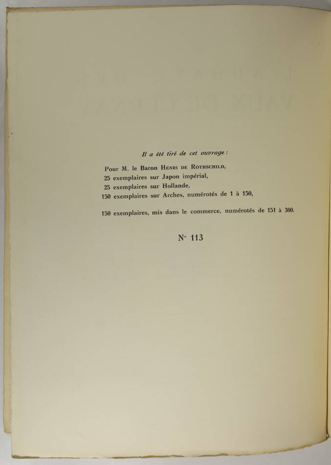 Aubert et Verrier - Abbaye des Vaux de Cernay - 1931 - 1/300 Arches - Photo 2, livre rare du XXe siècle