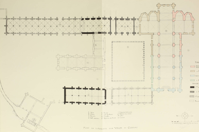 Aubert et Verrier - Abbaye des Vaux de Cernay - 1931 - 1/300 Arches - Photo 3, livre rare du XXe siècle
