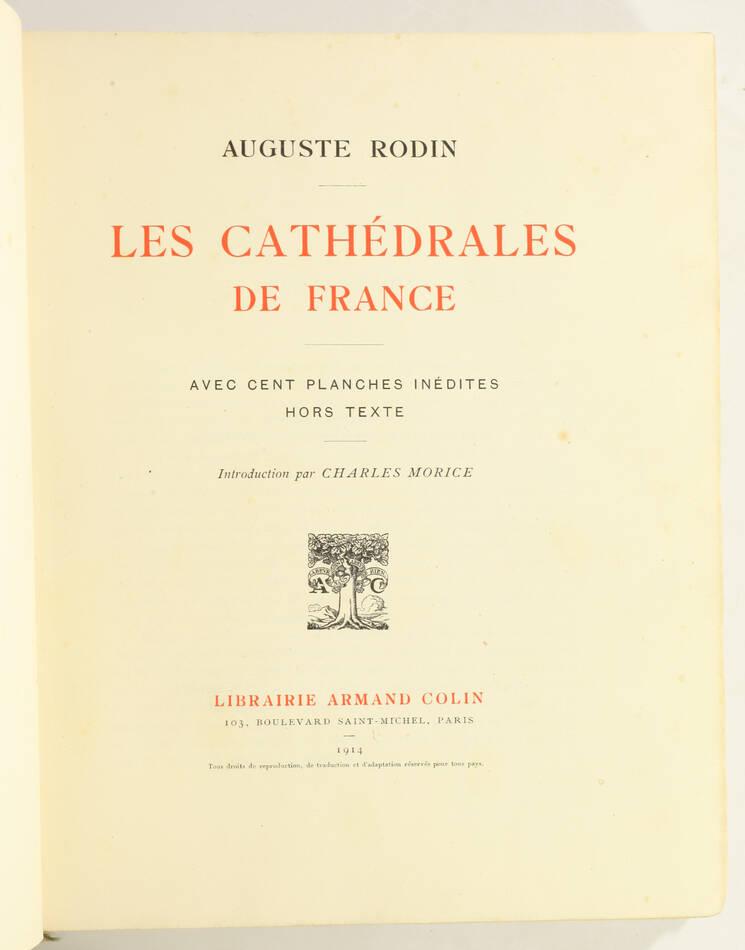 RODIN - Les cathédrales de France - 1914 - EO - 100 planches - Photo 2, livre rare du XXe siècle