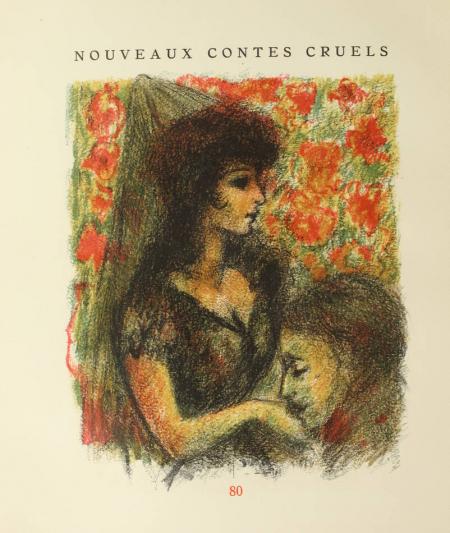 VILLIERS de l'ISLE ADAM. Nouveaux contes cruels, livre rare du XXe siècle