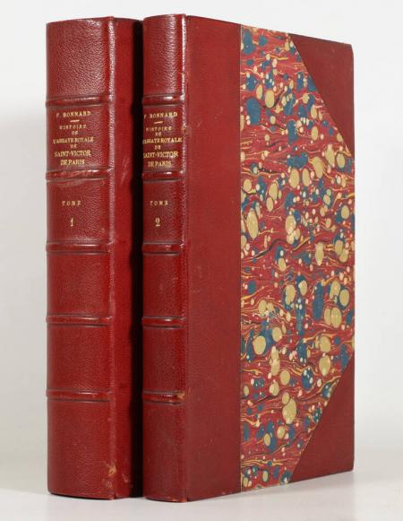 BONNARD (Fourier). Histoire de l'abbaye royale et de l'ordre des chanoines réguliers de St-Victor de Paris, livre rare du XXe siècle