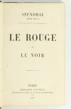 STENDHAL - Le rouge et le noir - Librairie Nouvelle - 1855 - Photo 1, livre rare du XIXe siècle
