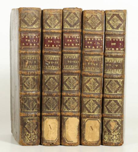 SAINT-EVREMONT (M. de) [SAINT-EVREMOND]. Oeuvres meslées. Nouvelle édition, revûë, corrigée et augmentée, livre ancien du XVIIe siècle