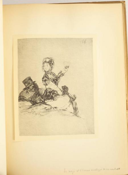 GOYA et LAFOND (Paul, introduction de). Nouveaux Caprices de Goya. Suite de trente-huit dessins inédits, publiés avec une introduction de Paul Lafond, livre rare du XXe siècle