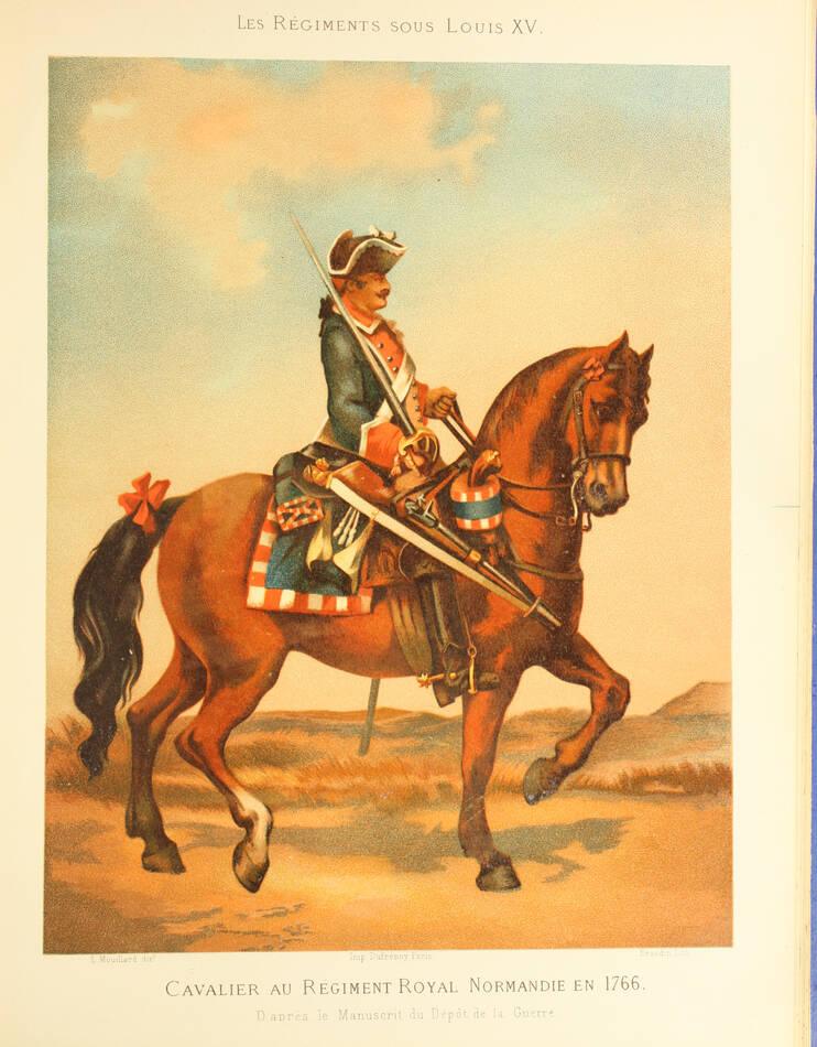 MOUILLARD - Les régiments sous Louis XV - 1882 - Planches en couleurs - Photo 0, livre rare du XIXe siècle