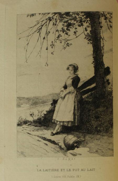 LA FONTAINE. Fables de La Fontaine, publiées par D. Jouaust, avec l'éloge de La Fontaine par Chamfort, livre rare du XIXe siècle