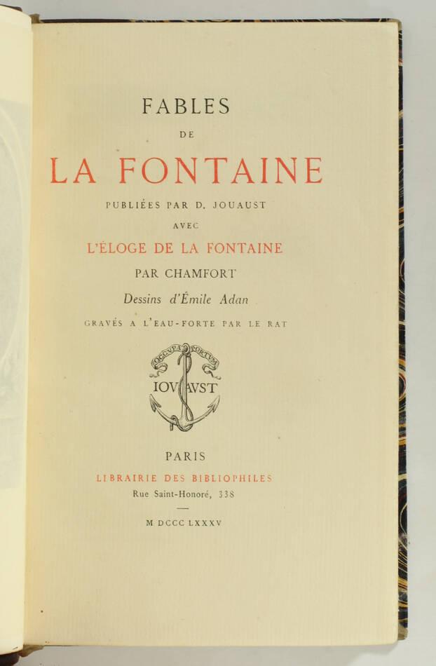 LA FONTAINE - Fables - 1885 - 2 vol.  - gravures de Le Rat d après Adan - Photo 3, livre rare du XIXe siècle