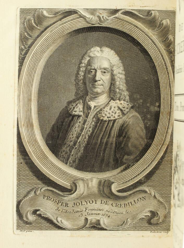CREBILLON - Oeuvres - 1750 - 2 volumes in-4 - Figures d après Boucher - Photo 2, livre ancien du XVIIIe siècle