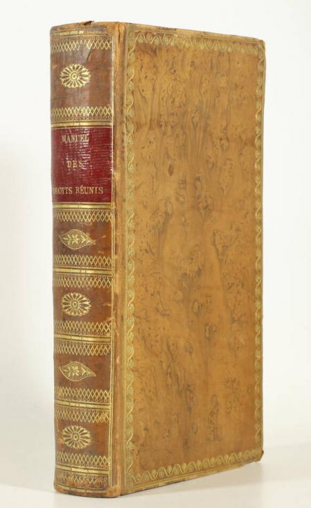 AGAR (C. H. d'). Manuel alphabétique des droits réunis, à l'usage des employés de tous grades de cette administration, livre ancien du XIXe siècle