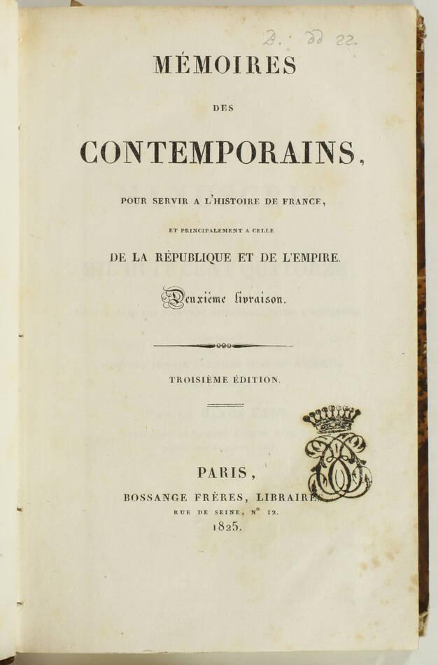 Baron FAIN - Manuscrit de 1814  trouvé dans les voitures de Waterloo - 1825 - Photo 3, livre rare du XIXe siècle