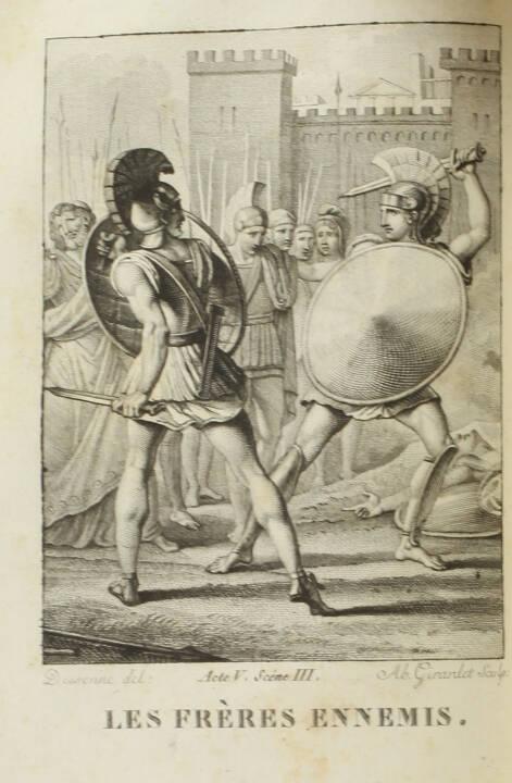 RACINE - Oeuvres complètes  - 1819 - 8 volumes - 26 figures - petits formats - Photo 1, livre rare du XIXe siècle