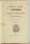 Armorial général d Hozier - 2 parties en un volume - L Ecureux (1854) Très rare - Photo 2, livre rare du XIXe siècle