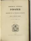 Armorial général d Hozier - 2 parties en un volume - L Ecureux (1854) Très rare - Photo 3, livre rare du XIXe siècle