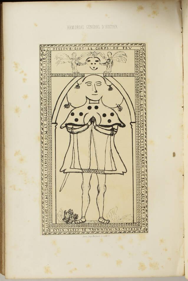 Armorial général d Hozier - 2 parties en un volume - L Ecureux (1854) Très rare - Photo 7, livre rare du XIXe siècle