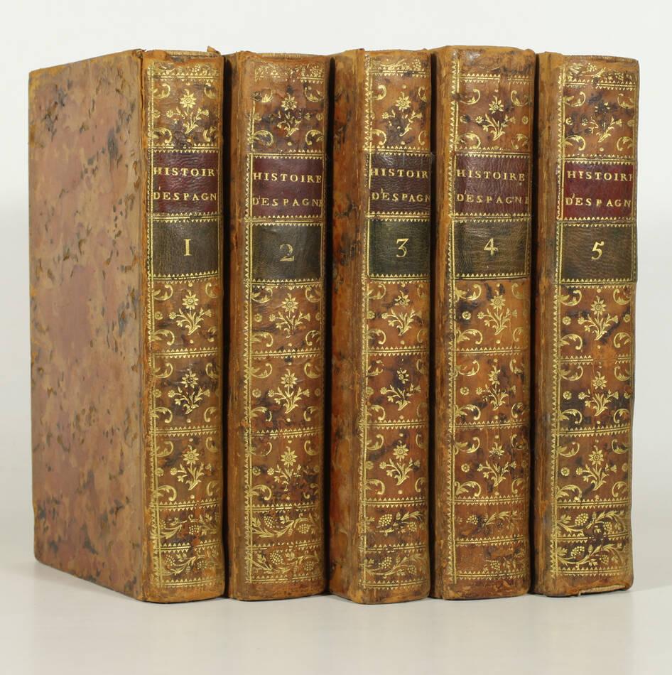 DESORMEAUX - Abrégé chronologique de l histoire d Espagne - 1758 - 5 vols EO - Photo 0, livre ancien du XVIIIe siècle