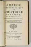 DESORMEAUX - Abrégé chronologique de l histoire d Espagne - 1758 - 5 vols EO - Photo 1, livre ancien du XVIIIe siècle