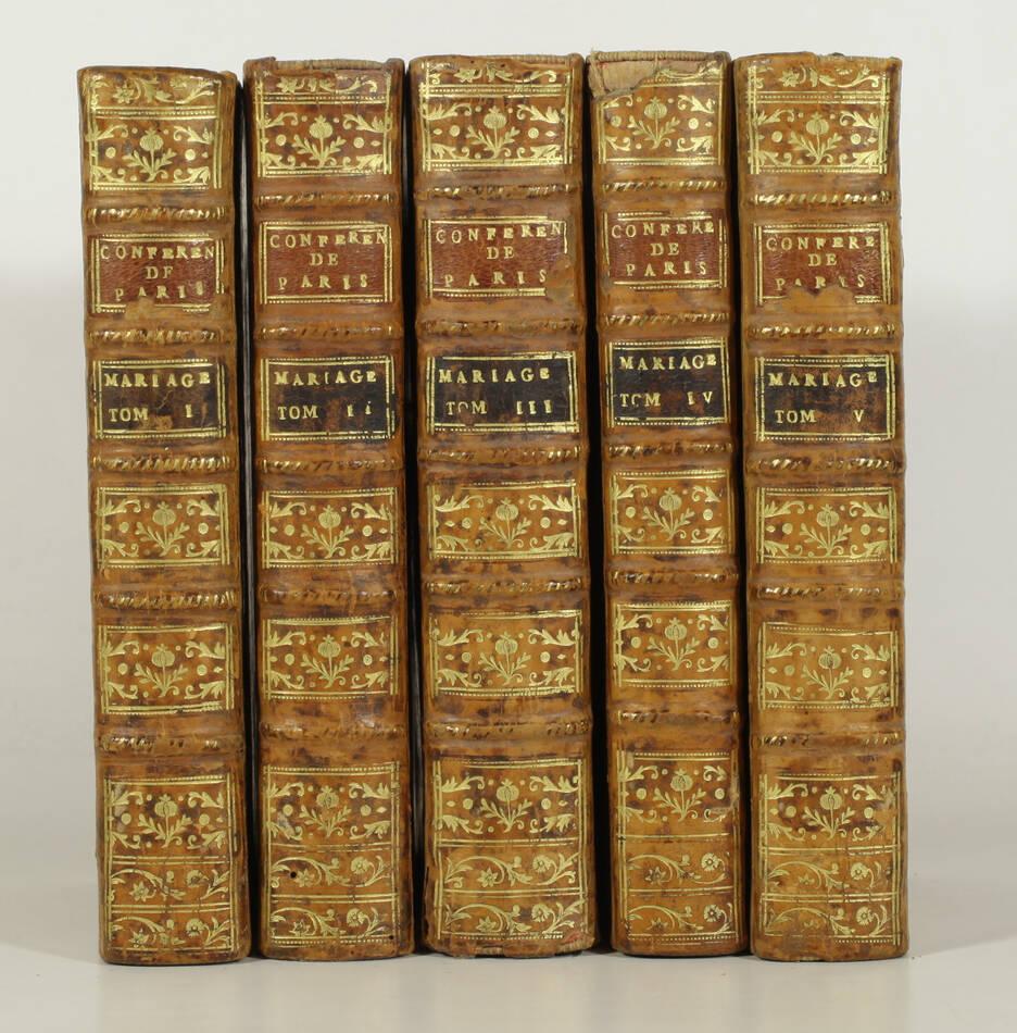Conférences ecclésiastiques de Paris sur le mariage - 1775 - 5 volumes - Photo 0, livre ancien du XVIIIe siècle