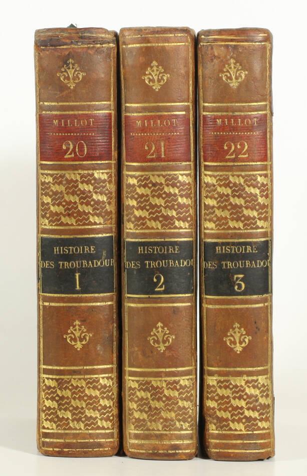 LA CURNE de SAINTE-PALAYE - Histoire littéraire des troubadours - 1774 - 3 vols - Photo 0, livre ancien du XVIIIe siècle