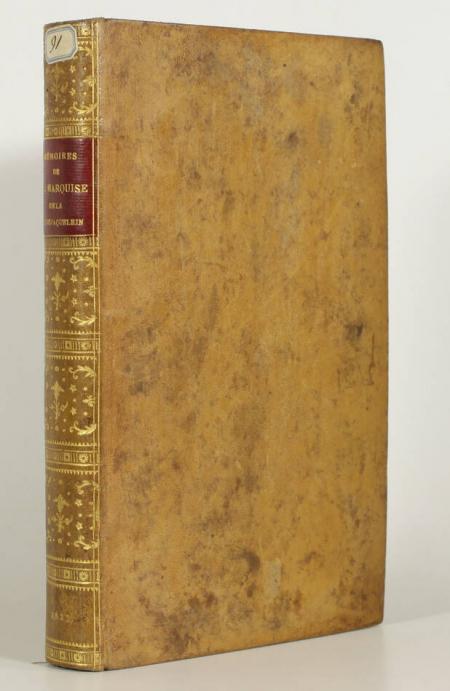 ROCHEJAQUELEIN (Marquise de la). Mémoires de Mme la marquise de la Rochejaquelein, écrits par elle-même, livre rare du XIXe siècle