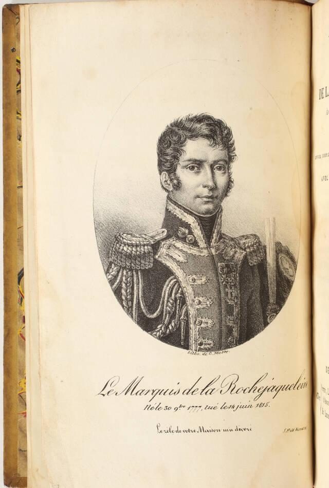 [Vendée] Mémoires de la marquise de la Rochejaquelein - 1822 - Portrait - Cartes - Photo 1, livre rare du XIXe siècle