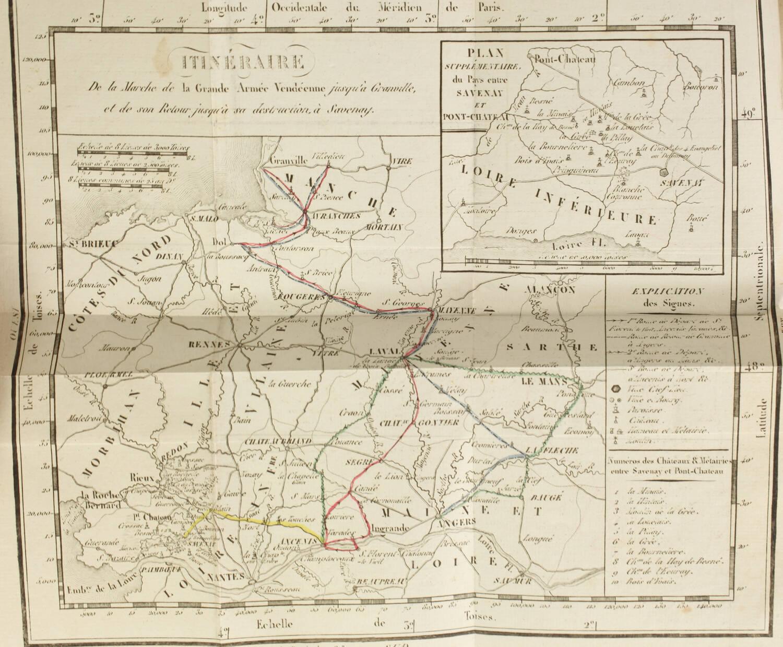[Vendée] Mémoires de la marquise de la Rochejaquelein - 1822 - Portrait - Cartes - Photo 2, livre rare du XIXe siècle
