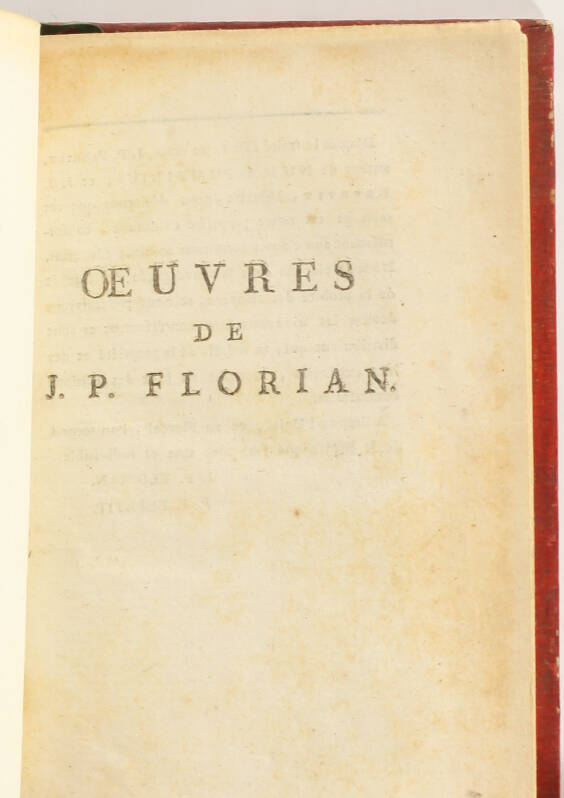 [Petit format] FLORIAN - Oeuvres - An II-III [1794-1795] - 12 volumes in-18 - Photo 2, livre ancien du XVIIIe siècle