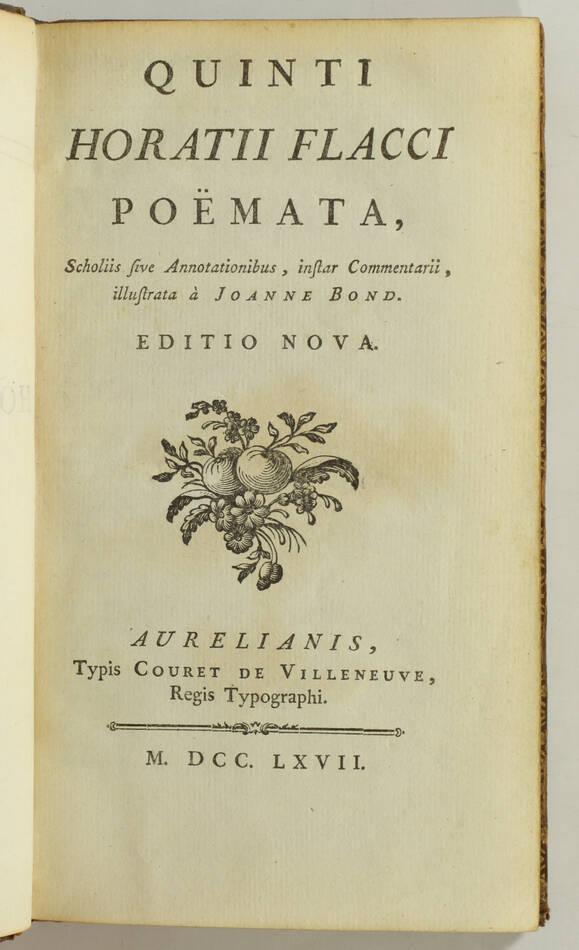 [Typographie] Horace - Poëmata - 1767 - Caractères minuscules de Fournier - Photo 1, livre ancien du XVIIIe siècle