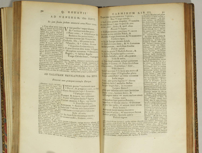 [Typographie] Horace - Poëmata - 1767 - Caractères minuscules de Fournier - Photo 2, livre ancien du XVIIIe siècle