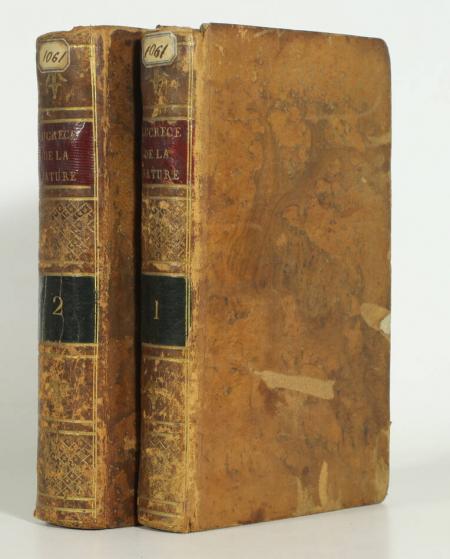 LUCRECE. De la nature des choses. Lucrece, traduction nouvelle, avec des notes; par M. Lagrange, livre ancien du XVIIIe siècle