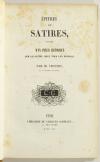 VIENNET - Epitres et satires suivies d un précis historique sur la satire - 1845 - Photo 1, livre rare du XIXe siècle