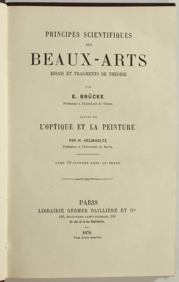 Principes scientifiques des beaux-arts +  Optique et peinture - 1878 - Figures - Photo 2, livre rare du XIXe siècle