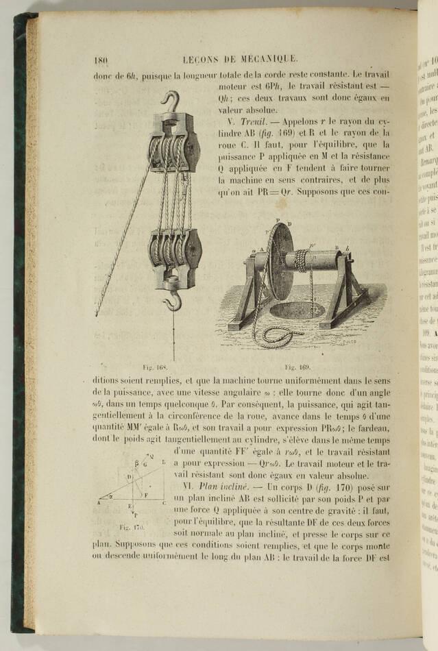 SIMON - Leçons de mécanique élémentaire - 1866 - 174 figures - Photo 0, livre rare du XIXe siècle