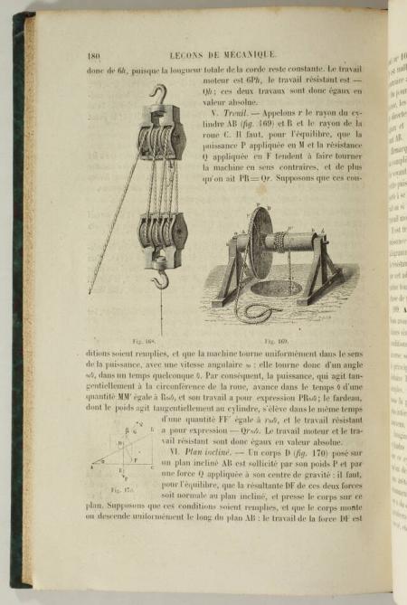 SIMON. Leçons de mécanique élémentaire. Rédigées conformément au programme officiel du 25 mars 1865, livre rare du XIXe siècle