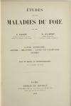 HANOT et GILBERT - Etudes sur les maladies du foie - 1888 - Figures en couleurs - Photo 2, livre rare du XIXe siècle
