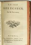 Almanach des jeux - 1786 - Jeu des échecs par M. Philidor - Photo 3, livre ancien du XVIIIe siècle